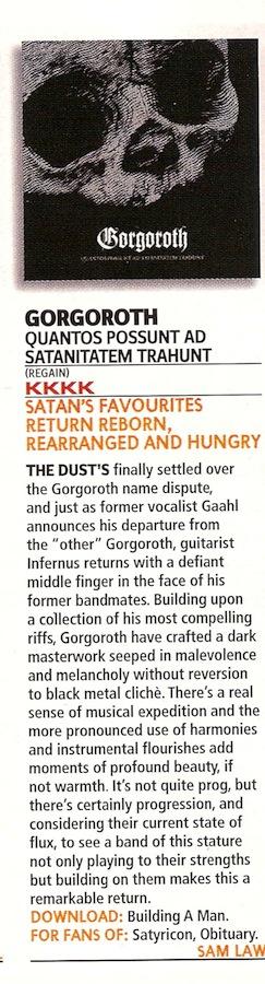 Gorgoroth info - Misc